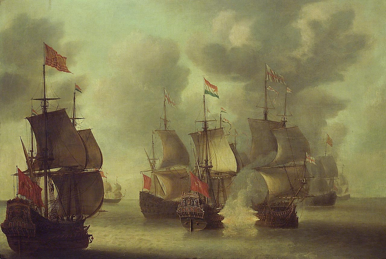 The 'Amelia' Engaging English Ships, 1652-53