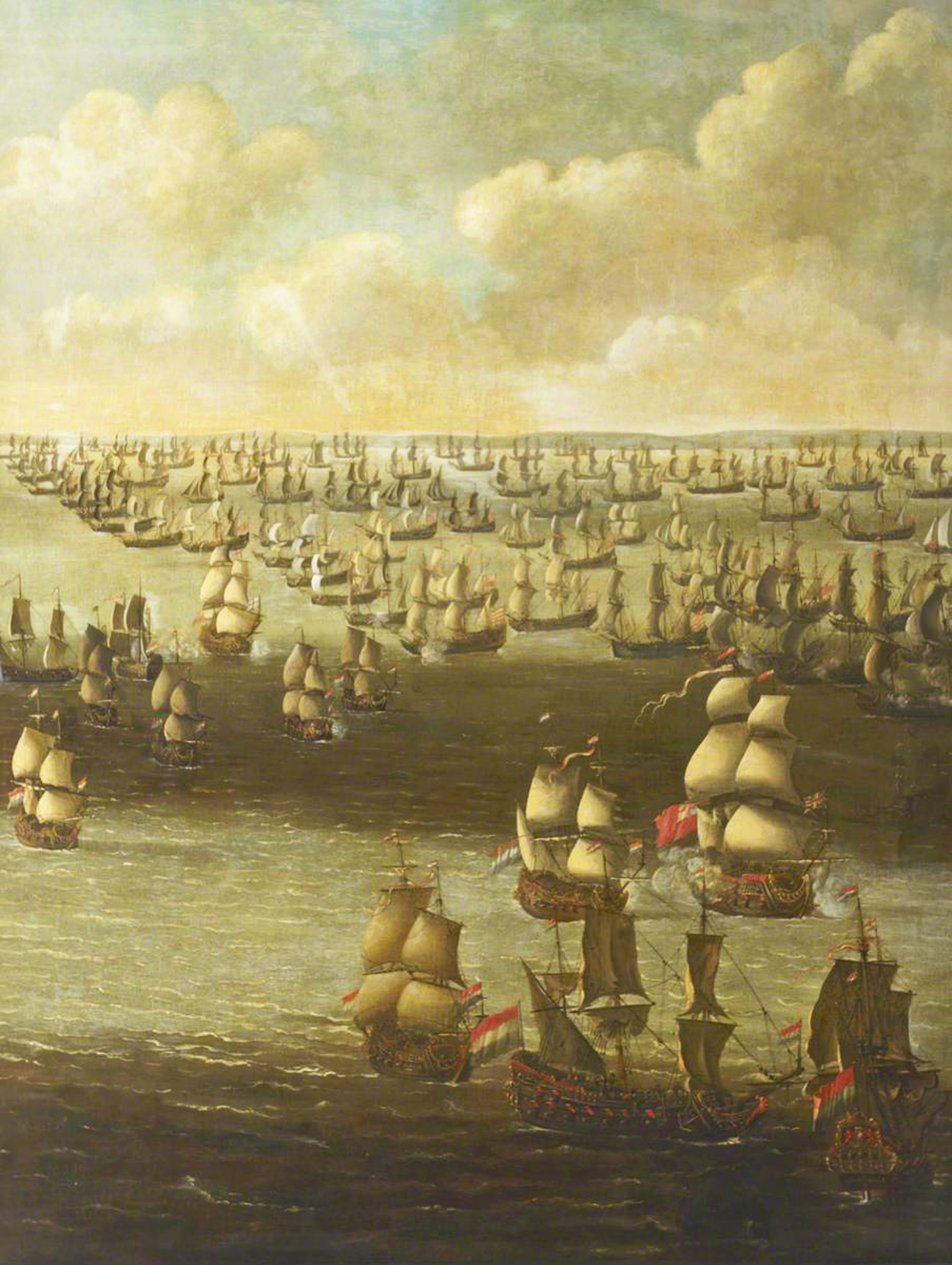 Schellinks, Daniel; HMS 'Tiger' Attacked by Eight Dutch Privateers, 26 August 1672; National Maritime Museum; http://www.artuk.org/artworks/hms-tiger-attacked-by-eight-dutch-privateers-26-august-1672-175498
